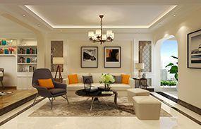 莱芜东方华庭现代混搭风格装修设计-乐通家装案例