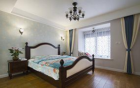 禹州翡翠湖郡119.45平田园混搭风格婚房装修设计案例